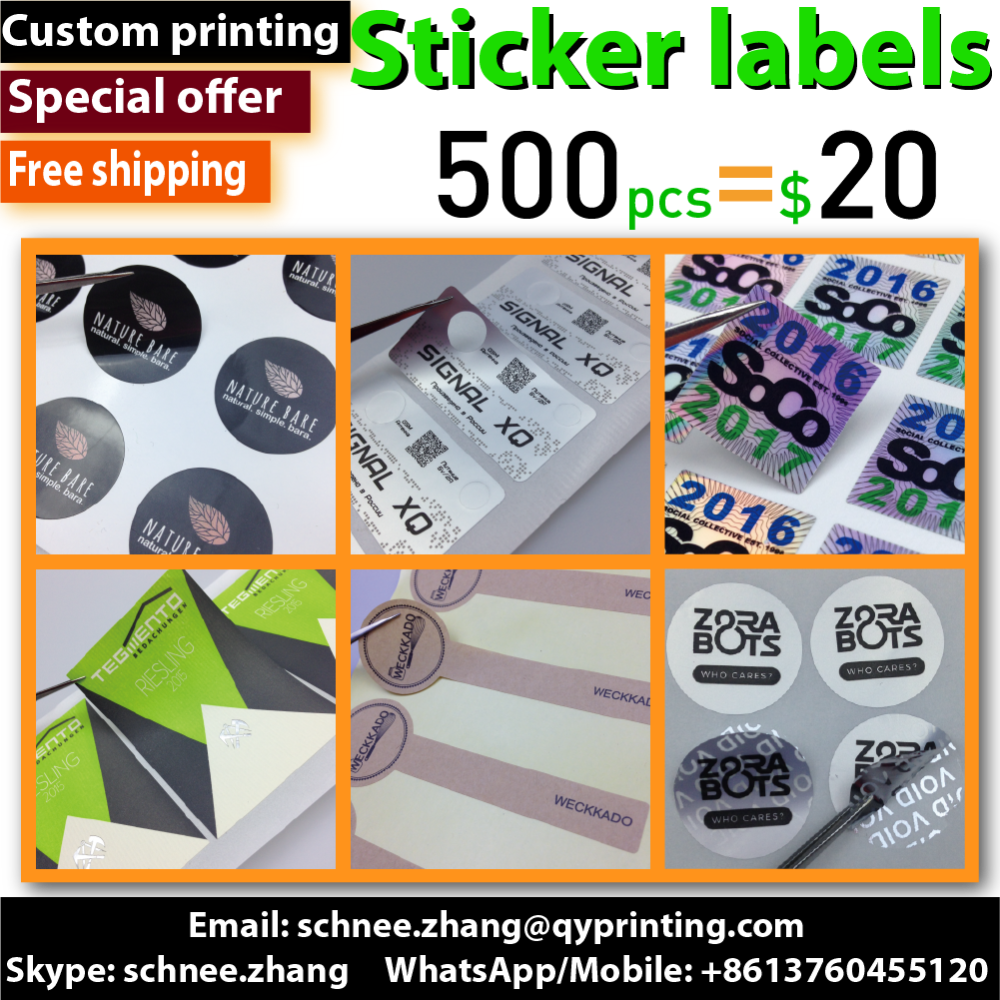 Custom printed Art Paper kraft paper self adhesive stickers <strong>labels</strong> security hologram clear PVC Vinyl plastic sticker seal <strong>label</strong>