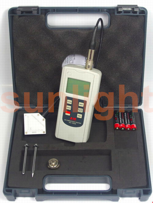 3-Axis Vibration Meter, Displacement/Velocity/Acceleration VB-160D