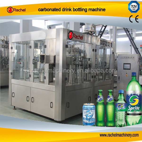 Carbonated drink 3 in 1 bottling machine product line