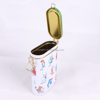 custom embossing,varnishing printing handling new airtight tin box for tea use empty tin can