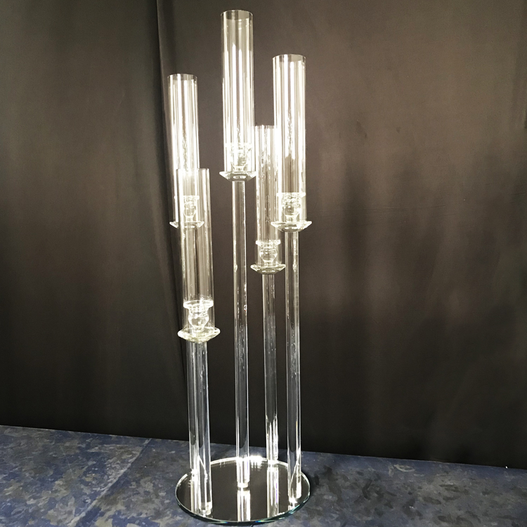 Event party supplies,New Design Wedding  Table Centerpieces Romantic 5 or 9 Holders Crystal Candlestick Holders
