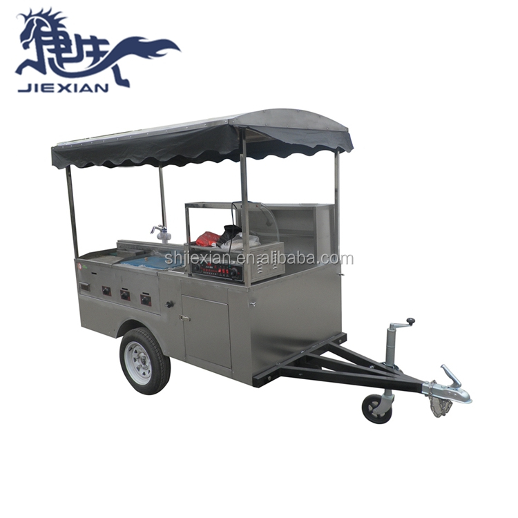 JX-HS200D Bánh Hamburger hot dog xe di động churros giỏ hàng cho bán