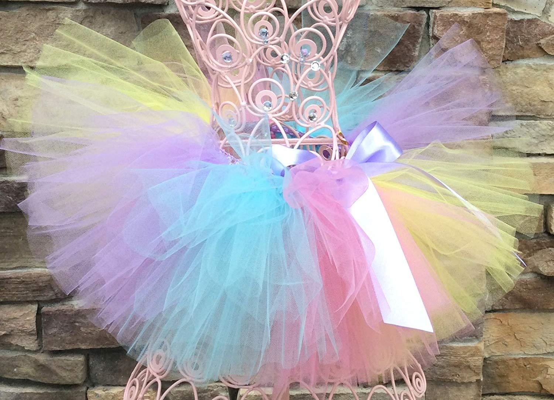d7d60cb84284 Rainbow Baby Tutu, Pastel Rainbow Tutu, Baby Tutu, Toddler Tutus, Birthday  Tutu