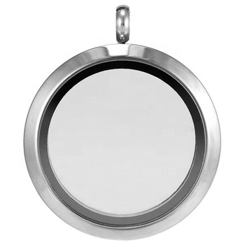 Yiwu Aceon Stainless Steel Glass Living Memory Floating Locket Pendant Screw Closure