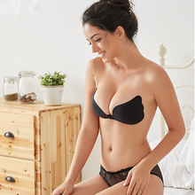 Sexy <span class=keywords><strong>Strapless</strong></span> <span class=keywords><strong>Bra</strong></span> Pushup Backless Self Adhesive Terlihat Silicone <span class=keywords><strong>Bra</strong></span>