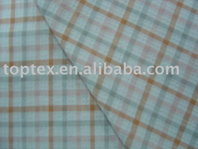 100% cotton yarn dyed checks dobby shirting fabric