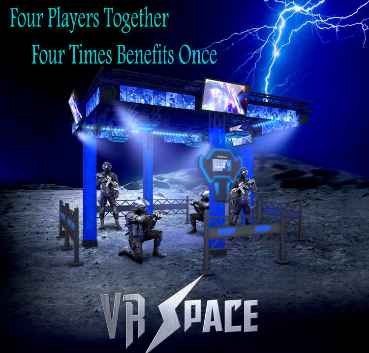 Virtual Reality Park Play Station 4 Spelers Cs Battle 9D Vr Arcade Game Pistool Schieten Vr Gaming Machine Battle Motion simulator