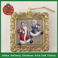 Santa image printed clear christmas ornaments
