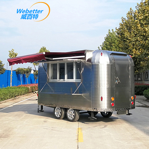 CE Approved Outdoor motorized food cart/ Mobile Commercial Gas Grill Food Van