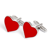 Novelty mens cufflinks red heart shaped cufflinks for Valentin's Day gift