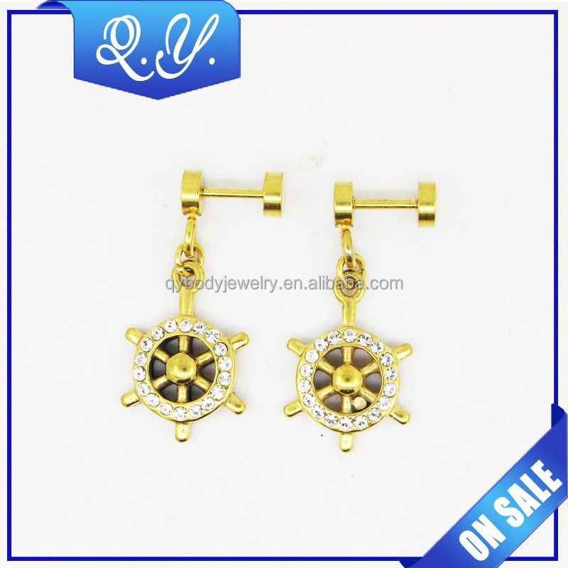 wholesale 14k gold plated navel belly button ring