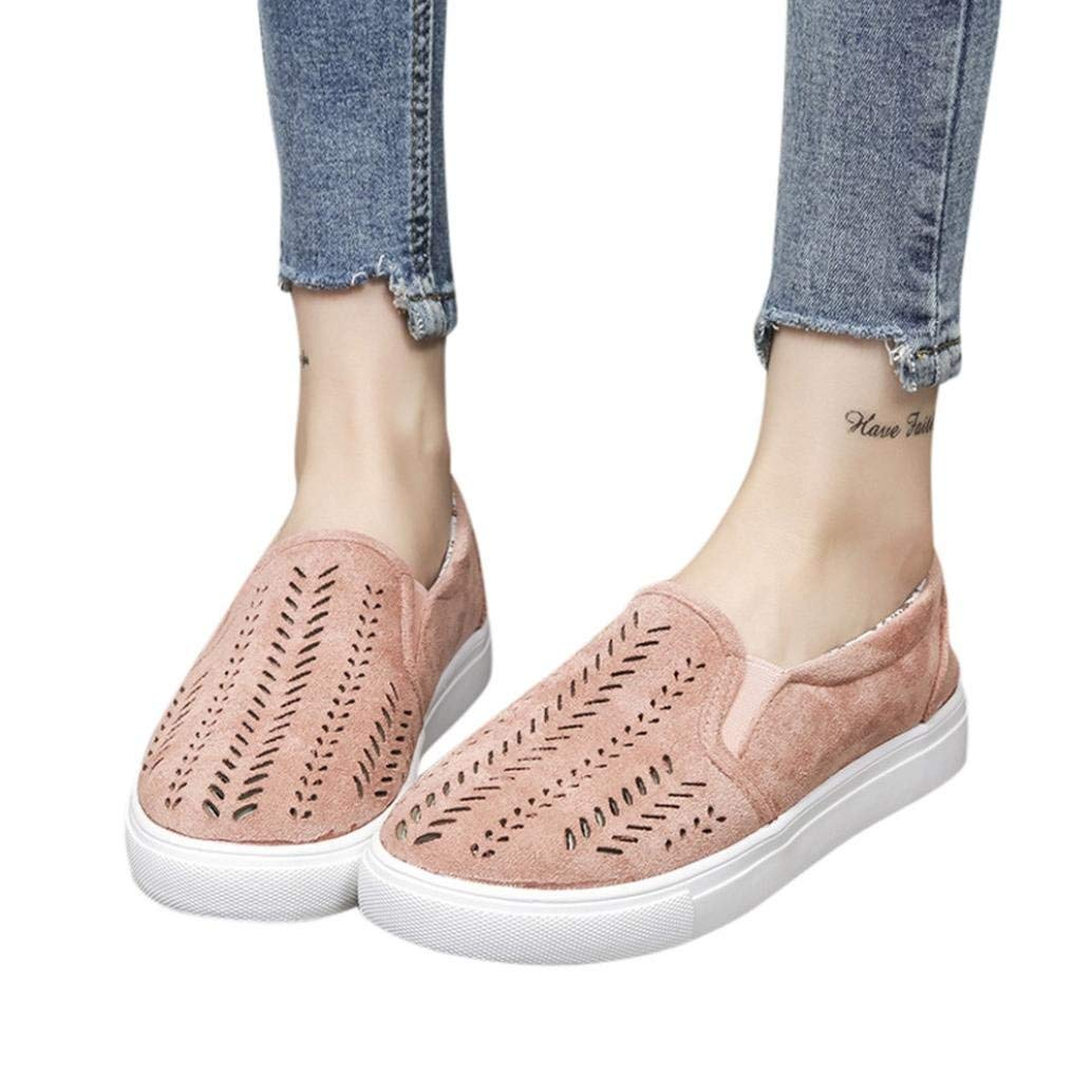 75d24032fa Shoes For Women,Ladies Women Hollow Out Shoes Round Toe Platform Flat Heel  Slip on