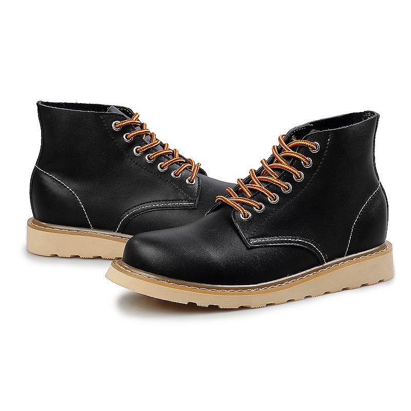 Mens casual boots cheap fashion wedge high heels travel ...