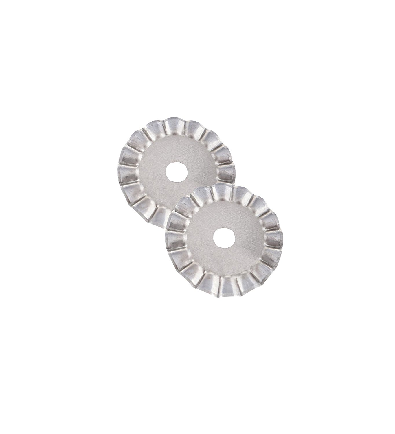 45mm Decorative Rotary Cutter Blades, WAVE (2 BLADES), for OLFA, FISKARS, Clover and other Cutters for Quilting, Scrap booking, leather, Vinyl etc from Threadnanny