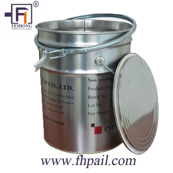 5 7 Gallon Galvanized Steel Metal Bucket Pail
