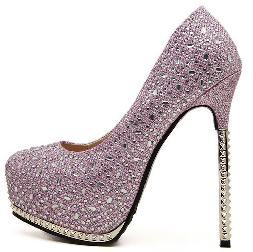 Get Quotations · New 2015 Black Pink 14 cm high heels shoes woman female  high-heeled wedding shoes 177ab2748687