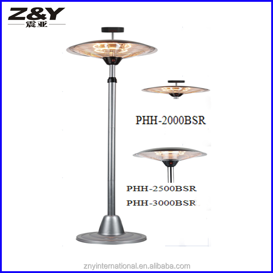 electric patio heater. Floor Stand Outdoor Halogen Electric Patio Heater