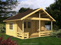 American country side small prefabricated wooden house