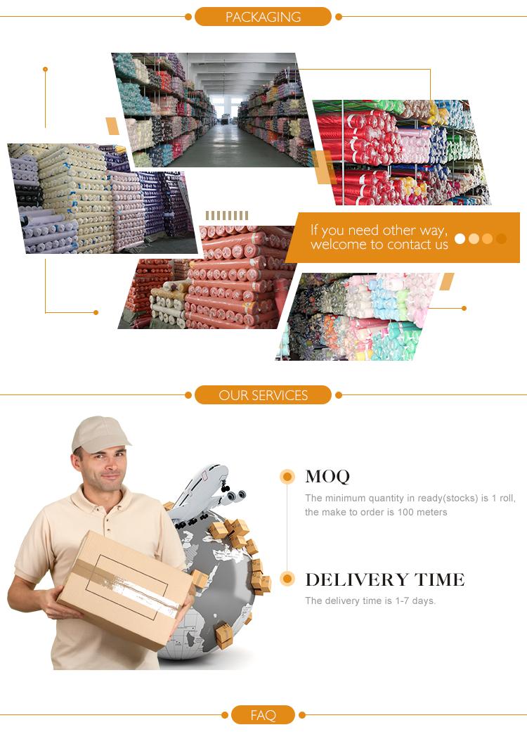 8014 Nouveau produit design de mode 50D satin doublure en mousseline de soie tissu prix par cour