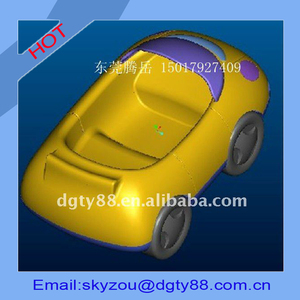 color printing plastic vacuum thermoformed process toy car body shell with high quality