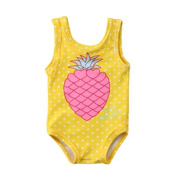 Bebé Niños 2018 Niñas Para Niños Buy trajes Piña De Impresión Amarillo Baño Traje Mangas Sin 2HDIEW9