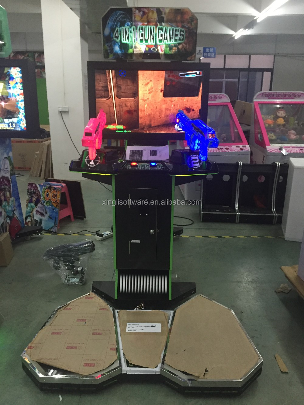 video game 4 in 1 gun game /shooting video game machine
