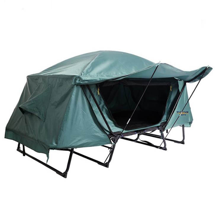 Wholesale factory luxury inflatable folding camping bed tent