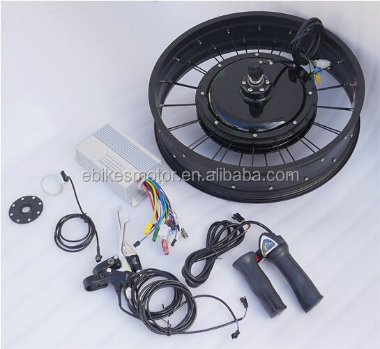 48v Fat Tire Electric Bicycle Conversion Kit - Front Hub ...