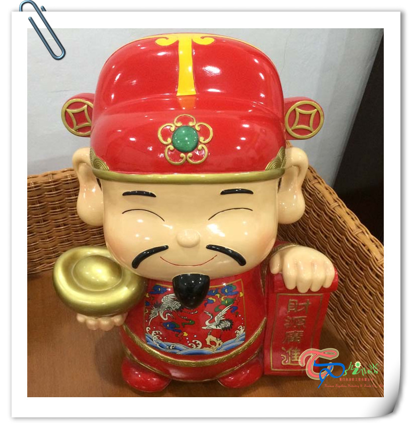 Hot Sale Chinese resin god of wealth figurine craft