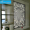 Simple Galvanized Steel Fixed Window Grill Design Wrought Iron Window