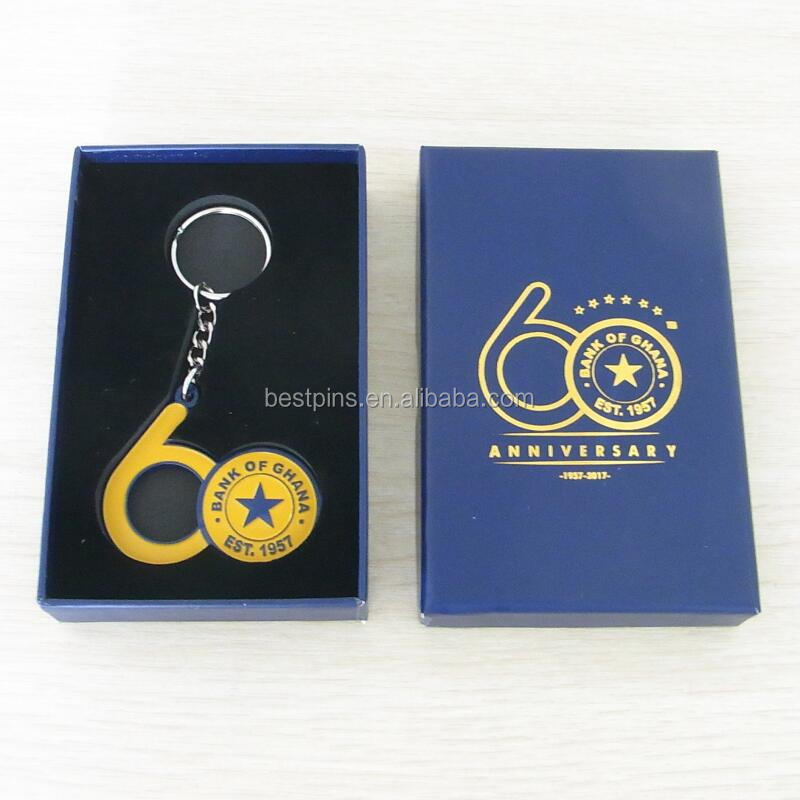 bank of ghana 60 years anniversary metal keychain beer bottle opener and gift box