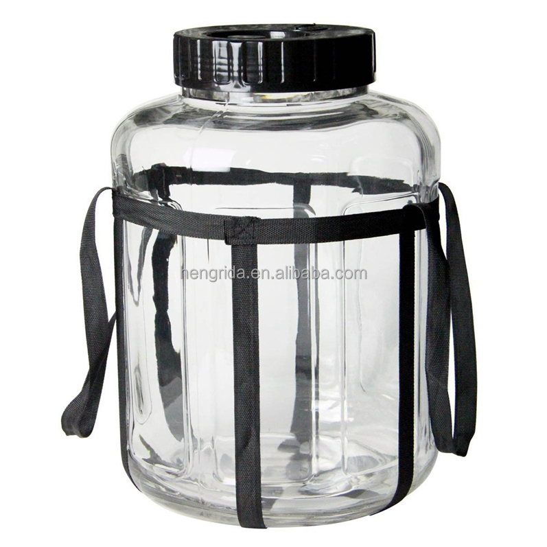 Wide Mouth Glass Carboy Fermenter for Homebrew Beer and Wine Making