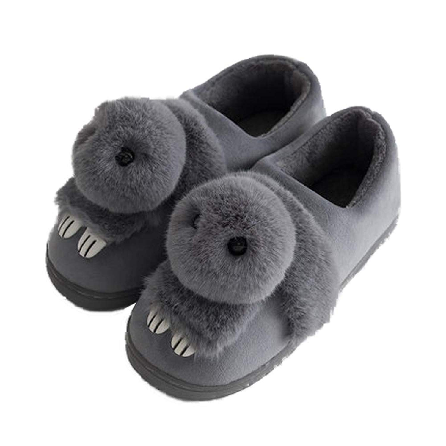 4ddcaccf0ef Get Quotations · Bunny Slipper Toddler Girls Indoor Outdoor Fur Warm Cute  Kids Animal Shoes