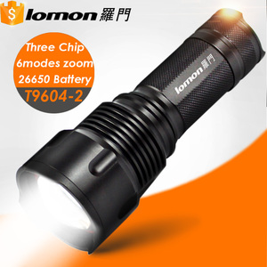 T9604-2 10000 50000 Lumens 1*L2 2*XPE Led Rechargeable Tactical Torch Light Led Flashlight