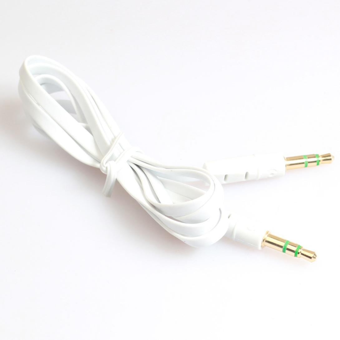 Cheap Aux Cable Red White Find Deals On Line At Wiring Get Quotations 1m Koozimo 35mm Auxiliary Audio Male To Flat