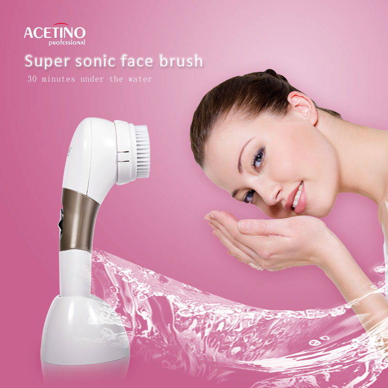 Private label automatic Deep soft Washing a face Cleaning Brush hot selling