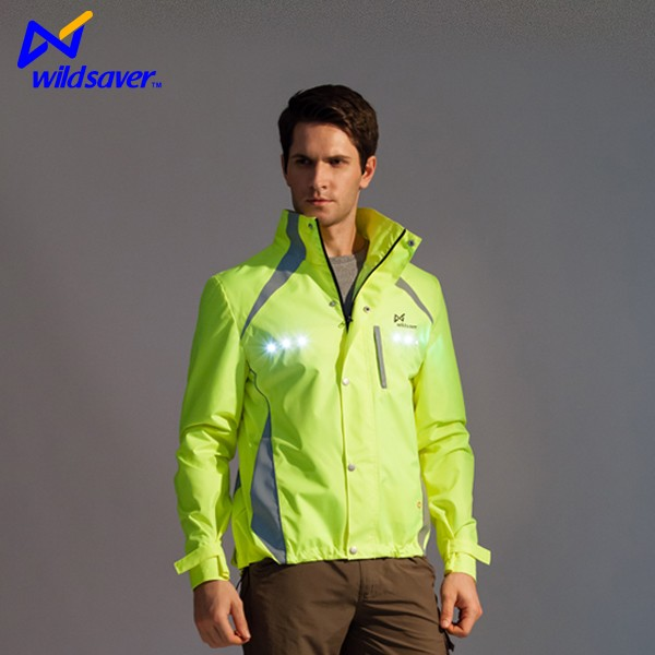 Safety cycling sports jacket wear for niggt riding