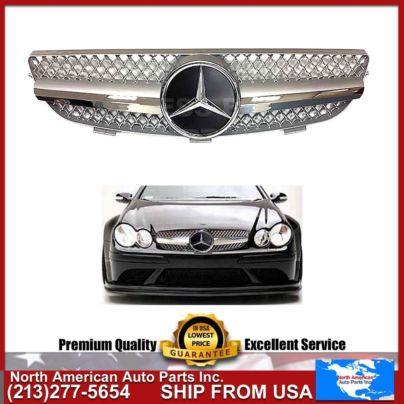 Cheap Benz Clk500 Find Deals On Line At Alibabacom 1998 Mercedes Ml320 Fuel Filter Get Quotations Clk 2003 2009 W209 Gloss Silver Chrome Grille Amg Style With
