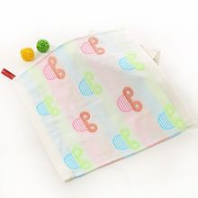 New Product High Quality Japanese Cotton Jacquard Cartoon Three Layers Gauze Hand Baby Towel For Kids