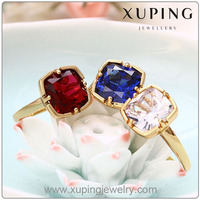 12910 xuping 18K Gold color Lady's Gold Ring fashion ruby ring