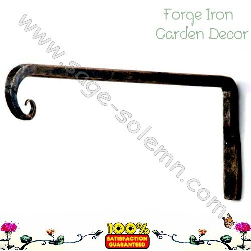 China Alibaba Factory Forged Iron Plant Hanging Hook, Hanging Basket Hook,  Garden Forged Metal