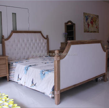 French Style King Size Wooden Bed Vintage Bedroom Furniture Set, View  bedroom furniture set, Osar Furniture Product Details from Shanghai Osar ...