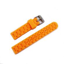 Аксессуары для часов, силиконовый ремешок 16 мм, Цветной силиконовый браслет с пряжкой, антиуровневый прямой детский женский ремешок для час...(Китай)