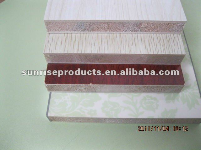 18mm high quality melamine fancy blockboard