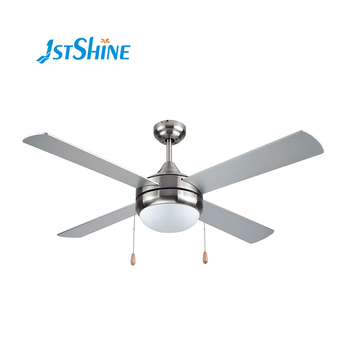 Best modern silver and walnut color design plywood blade ETL approval 110V 60Hz ac or dc motor wooden ceiling fan with light