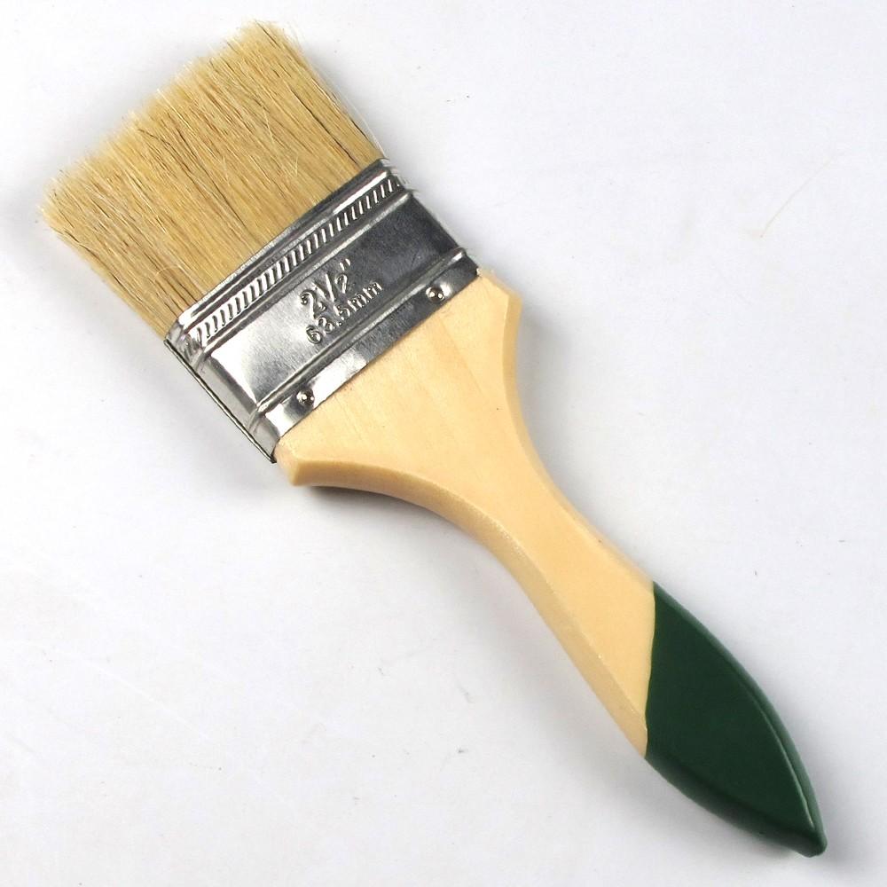 76 mm Profesional Pinceau Naturel Peinture Poil Avec en Bois Hêtre Poignée