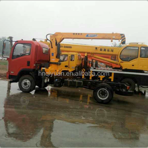 hot selling 8 tons truck mounted crane with telescopic boom with best price for sale