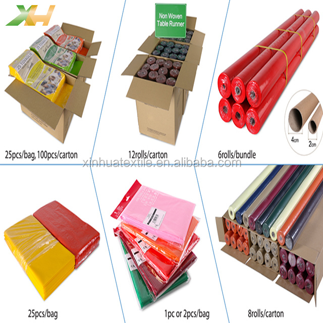 Raw Material 100% Polypropylene Nonwoven Fabric Rolls for Disposable Table Runner