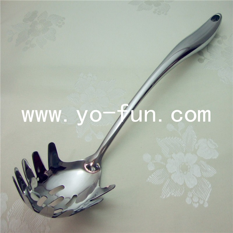 JTB270 HOTEL high quality stainless steel 5MM 304 cooking pasta spoon