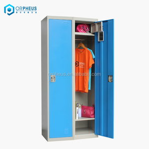 Knock Down General Use 2 Door Steel Horizontal Dancer Wall Lockers With Safe Box